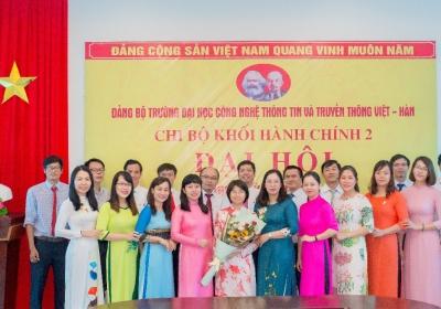 Đại hội các chi bộ trực thuộc Đảng bộ Trường Đại học Công nghệ thông tin và Truyền thông Việt - Hàn