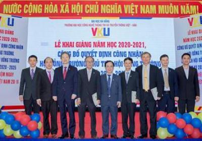 VKU long trọng tổ chức Lễ Khai giảng và Công bố Quyết định Chủ tịch Hội đồng Trường nhiệm kỳ 2020-2025